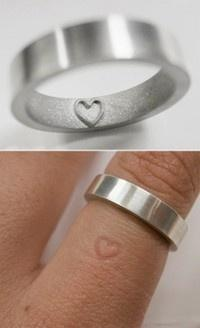 i would love a simple wedding ring like this maybe that has a message on it so i could actually wear it to the farm and not break it: Wedding Ring, Wedding Ideas, Imprint Ring, Wedding Band, Rings, Jewelry