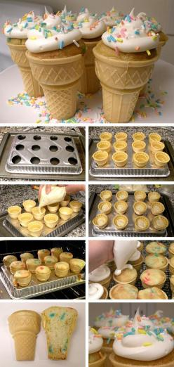 Ice Cream Cone Cupcakes: Birthday, Cone Cupcakes, Food, Cup Cake, Party Ideas, Kid, Ice Cream Cones, Dessert
