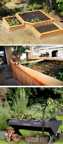 if I could build my own house i would love to have the picture in the middle in a room off the kitchen for year round veggies and herbs: Garden Planters, Raised Beds, Herbs Garden, Round Veggies, Raised Garden, Vegetable Garden