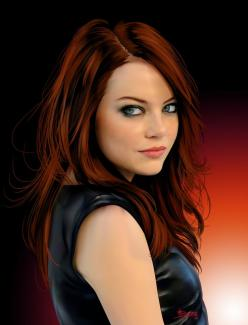 Image on Designs Next  http://www.designsnext.com/celebrity/hot-and-sensational-emma-stone.html: Hair Colors, Red Hair, Emma Stone, Celeb, Beautiful, Redheads, Stones, Red Head
