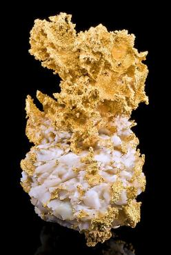 Incredibly beautiful and heavy specimen of Native Gold on bright white Quartz! From the 16 to 1 Mine, Grass Valley, Nevada City District (Grass Valley District), Sierra Co., California.: Minerals Crystals Gems, Rocks Minerals, Crystals Minerals Rocks, Gem