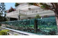 ...It contained about a thousand fish of different species and the aquarium was approximately 50 metres long. The water was taken from the sea in a continuous cycle: Dream Aquarium, Awesome Aquarium, Aquarium Fence, Fish Tanks, Dream House, Fishtanks, Aqu