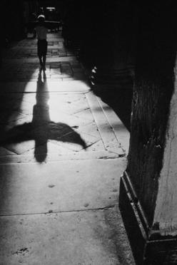 Jean Noël de Soye, Shadow of a child playing with his sweater near Saint Marc Plaza, Venice, Italy, 1992-1999: Sweater, Marc Plaza, Christmas, Venice Italy