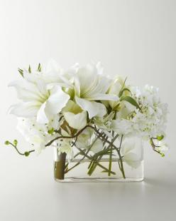 John Richard Collection Faux Watergarden Arrangement - Handcrafted blooms are arranged in a clear glass vase with acrylic water.: Faux Watergarden, John Richard Collection, Faux Flower, Watergarden Arrangement, Decorating Ideas, Flower Arrangements, Colle