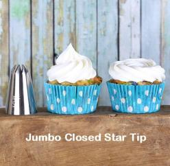 Jumbo Closed Star Frosting Tip - This frosting tip makes the perfect traditional swirl and the rose swirl. | Bakers Party Shop: Cupcakes Muffins, Cupcake Business, Future Cupcake, Star Frosting, Cupcakes Cookies, Beautiful Cake, Cupcake Díszítés, Cupcakes