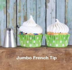 Jumbo French Frosting Tip - Use this frosting tip to create a swirl with lots of texture. You can also make a sweet little cloud of frosting for super quick cupcake decorating! | Bakers Party Shop: Autumn S 3Rd, Frosting, Cupcakes Cookies, Cakes Cakes, Be