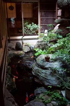 Koi pond inspiration....,Japanese residence: photo by YU-TA LEE, via Flickr: Backyard Koi Ponds, Backyard Gardening Ideas, Koi Pond Garden, Backyard Gardens Ideas, Photo, Koi Ponds Ideas