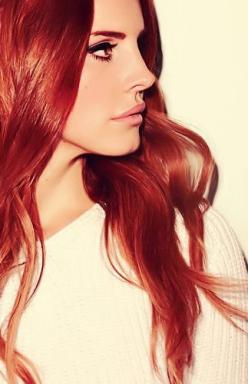 Lana Del Rey ♥ I wish to look like her! She looks Beautiful, that's the perfect way to describe her.: Lanadelrey, Style, Haircolor, Lana Del Rey Red Hair, Lana Del Rey Hair Color Red, Woolen Ray, Lanadelray, Ldr, Queen Lana