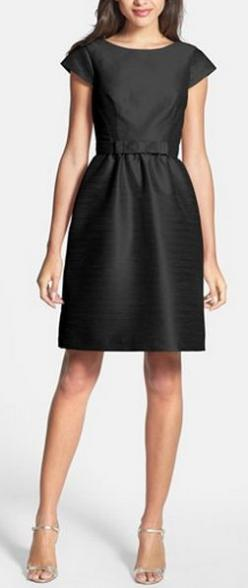 Little black dress: Sung Woven, Fit Flare Dress, Fashion, Nordstrom, Woven Fit, Bridesmaid Dresses, Wedding, Little Black Dresses, Alfred Sung