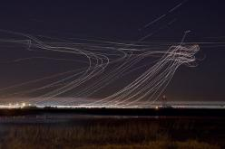 long exposure airplane photography from the san francisco international airport by terence chang: Air Traffic, Exposure Shots, Late Night, Airports, Airplane, Long Exposure Photos, Exposure Photography, San Francisco