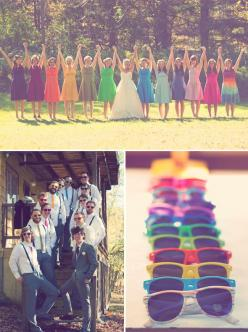 Love Love Love this idea!!!: Wedding Ideas, Weddings, Rainbows, Bridesmaid, Dream Wedding, Rainbow Wedding, Weddingideas, Future Wedding