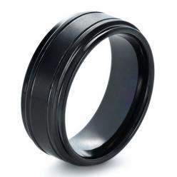 Love this black custom mens wedding ring from Joseph Jewelry. So cool!: Men'S Wedding Rings Black, Men'S Wedding Rings Tungsten, Men'S Rings Wedding, Men Wedding Rings Tungsten, Mens Wedding Rings Tungsten, Mens Tungsten Wedding Rings, Men&#39