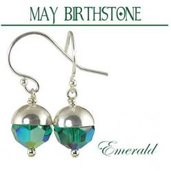 May Birthstone || Emeralds were Cleopatra's favorite stone. She was known to give visiting dignitaries large Emeralds carved with her likeness.: Emerald Earrings, Paw Studios, South Paw, Large Emeralds, Crystal Earrings, Birthstone Earrings