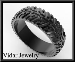 Mens Tire Tread Wedding RingUnique Black Gold Ring by Vidarjewelry, $1175.00: Tread Wedding, Men'S, Wedding Band, Black Gold, Engagement Ring, Tire Tread, Men Wedding Rings