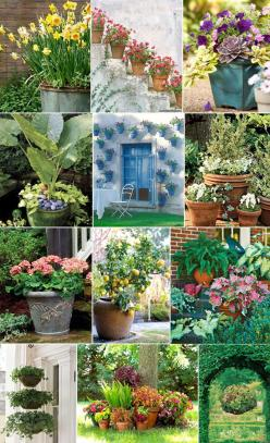 Merriment Style Blog - Merriment - A Celebration of Style and Substance: Container Gardens, Garden Ideas, Gardening Ideas, Outdoor, Container Gardening, Flower