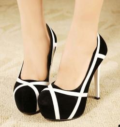 Mixed Colors Stilettos High Heel Shoes: Prom Shoes, Colors Stilettos, Black And White, Mixed Colors, Pump, High Heels