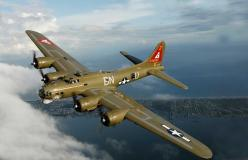 "Nice shot of the ""Thunder Bird""!: Wwii, Aircraft, Bomber, B-17 Flying Fortress, B 17 Flying, Warbird, B17 Flying Fortress"