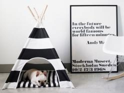 Now you'll have so many more reasons to be a major couch potato.: Striped Dog, Decor, Dogs, Dog Lovers, Living Room, Teepees, Frenchie, Dog Teepee, Animal