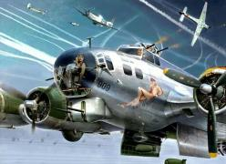 Odd bit of role reversal in this art... But still pretty good.: Airplanes Airplanes, Art Airplanes, Plane Pinups, Iconic Noseart, Aviation Paintings, Aircraft Nose, B17 Flying, Aircraft Pin Ups, Aircraft Art