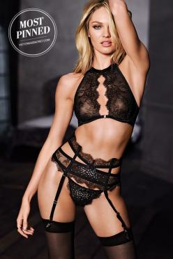 One word: Seduction. | Victoria's Secret Chantilly Lace Halter Bra: Victoriasecret, Girl, Candice Swanepoel, Chantilly Lace, Beautiful, Victoria Secret, Sexy Lingerie, Candiceswanepoel, Victoria S Secret