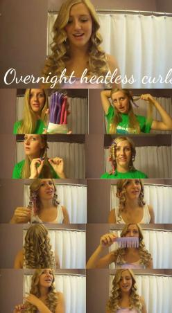 Overnight heatless curls(taylor swift curls): 750 1 368 Pixels, Hairstyles ️ ️, 600 1 094 Pixels, Makeup, Hairstyles Grown, Beauty, Hairstyles Goals, Overnight Hair Styles, 640 1 167 Pixels