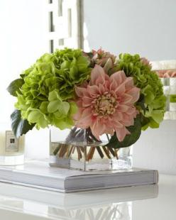 Pale Pink & Green Faux-Floral Arrangement by John-Richard Collection at Neiman Marcus.  I can't believe these are fake- I love this arrangement.: John Richard Collection, Green Faux Floral, Faux Flower, Pale Pink, Faux Floral Arrangement, Flower A