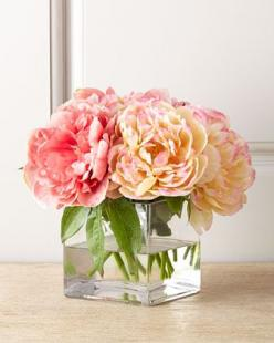 Petite Peony Faux Floral by John-Richard Collection at Neiman Marcus.: Decor, John Richard Collection, Small Collection, Faux Floral, Floral Arrangements, Flower, Peonies, Petite Peony