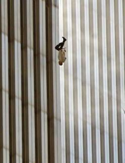 photo of a man falling from one of the world trade center towers, 9/11/01..   AND THE MORE SAD THING IS THAT THE PEOPLE WHO CAUSE ALL THIS OBAMA IS GIVING THEM ARMS TO DO IT AGAIN: 9 11, September 11, World Trade Center, Fallingman, Photo, 911