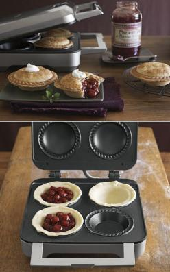 Planning a pie party? Williams & Sonoma Breville Pie Maker...Seriously!!: Baking Supplies Tools, Baking Tools, Breville Mini, Gadgets Appliances, Kitchen Appliances Ideas, Things I Want To Buy, Appliances Kitchen, Breville Pie Maker Recipes, Appliance