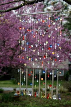 pretty for a window.: Ideas, Craft, Diy'S, Windchimes, Wind Chimes, Garden, Sun Catchers