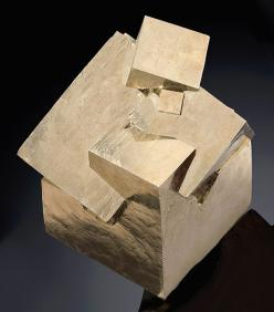 Pyrite cubes growing out of each other like machinery from a crash-landed spacecraft.: Crystals, Penetrating Twin, Twin Pyrite, Cubes Navajún, Stone, Rock, C G Pyrites Galena, Rioja