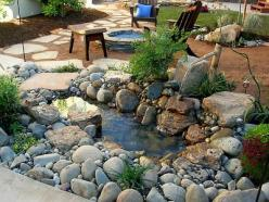 Quick and easy little pond for your garden DIY - This is pretty, love the round rocks rather than flat ones!: Ponds, Idea, Water Features, Pond Water Feature, Backyard, Garden, Diy Network