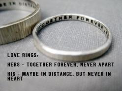 Quote Idea  Love Rings His n Hers Promise by boutonrougedesigns, $114.00: Anniversary Rings, Quotes, Solid Sterling, Sterling Silver, Wedding Bands, Wedding Rings, Love Ring, Promise Rings