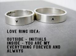 Quote Idea - Personalized Ring, Love Ring, Promise Ring, Wedding Ring, Anniversary Ring, Stamped, Solid Sterling on Etsy, $102.00: Wedding Ideas, Weddings, A V Wedding, Wedding Rings, Ring Ideas, Personalized Rings, Gfb Ideas, Promise Rings