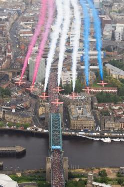 RAF Red Arrows. Red, white  blue.: Red Arrows, 2012 Redarrows, Gnr14 Greatnorthrun, Redarrows Greatnorthrun, Aircraft, Home Newcastle, Greatnorthrun Newcastle, White Blue