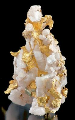 RARE specimen of Native Gold with Pyrite crystals on Quartz from the Mother Lode of California.: Gemstones, Gems Minerals, Metal, Minerals Crystals, California, Crystals Minerals, Mother Lode, Native Gold