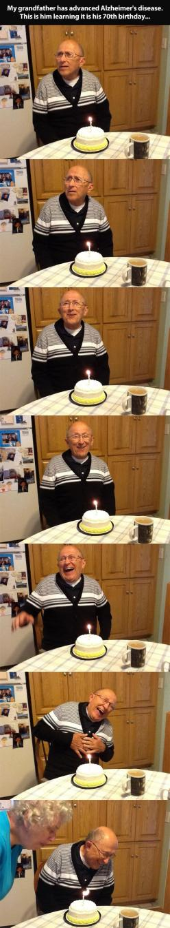 Realizing it's his 70th birthday…this makes me happy.: Old Mans, Face, Humanity Restored, Sweet, Heart Warming, My Heart, So Happy, 70Th Birthday