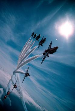 [Red Arrows in swept Big 9 formation]  ... O M G ... that is just breathtaking !!!  Woohoo!: Aviation, Red Arrows, Airplane, Aircraft, Fighter Jet, Jets, Planes, Photography