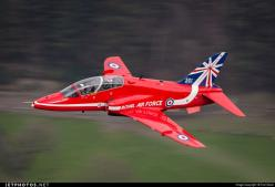 Royal Air Force (RAF) British Aerospace Hawk T.1 - Low level BAE Hawk T.1 Red Arrow. The Reds had been at RAF Valley for the day and each transited through the Mach Loop in Wales before RTB at RAF Scampton.: Aviation Inspired, The Red Arrows, Aircraft, Ph