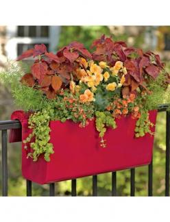 Self Watering Balcony Railing Planter. Great for flowers,  herbs and greens!: Railings, Railing Planter, Balconies, Balcony Garden, Gardens, Planters, Self Watering