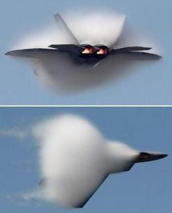 Sound barrier.. seeing this in person is beyond awesome!!: Airplanes Airplanes, Sound Barrier, Near Supersonic, Airplanes Choppers Military, F 22 Stealth, Going Supersonic, Cloud, Airplane Jets