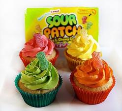 Sour Patch Kid Cupcakes: Kid Cupcakes, Recipe, Sweet, Food, Sour Patch Kids, Kids Cupcakes, Sourpatch, Patch Cupcakes, Dessert