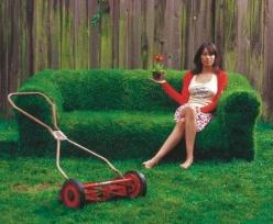 Sprout a sofa. | 31 DIY Ways To Make Your Backyard Awesome This Summer: Garden Ideas, Grass Couch, Outdoor, Grass Sofa, Gardening, Gardens, Backyard, Diy, Sofas