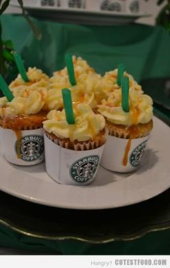 Starbucks!: Frappuccino Cupcakes, Sweet, Food, Recipes, Starbucks Cupcakes, Yummy, Starbuckscupcakes, Starbucks Frappuccino, Dessert