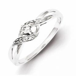 Sterling Silver Diamond Promise Ring: Purity Rings, Promise Rings ️, Silver Diamonds, Sterling Silver, Diamond Promise Rings, Silver Diamond Rings, Promis Rings, Promise Ringssss, Engagement Rings