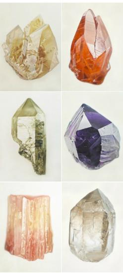 stones...except these are paintings...amazing. Via Odessa May Society blog http://odessamay.blogspot.com/2012/01/heart-arts-joanna-logue.html: Precious Gems, Rocks Minerals Gems Stones, Gemstones Crystals Jewelries, Gemstones Rock, Semi Precious, Crystals