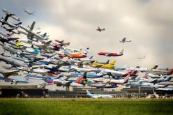 Striking Multiple Exposure Shot of Takeoffs at Hannover Airport  //  Photograph by HO-YEOL RYU: Photos, Airports, Airplane, Multiple Exposure, Art, Planes, Photography