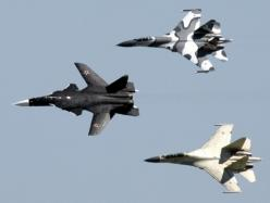 Sukhoi Su-47 and Su-35s: Military Aircraft, Fighter Planes, Airplane, Aircraft, War Machine, Fighter Jets