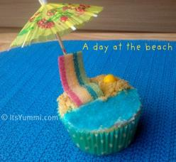 Summer lovin' is easy with these Day at the Beach cupcakes!: Beaches, Sweet, Cupcake Recipe, Food, Beach Party, At The Beach, Cupcake Ideas, Summer, Beach Cupcakes Sara