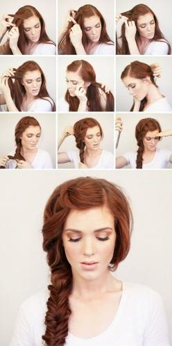Summer side braid - I don't know who this woman is obviously...but she sure is purdy!!: Hairstyles, Hair Styles, Hairdos, Hair Tutorial, Hair Do